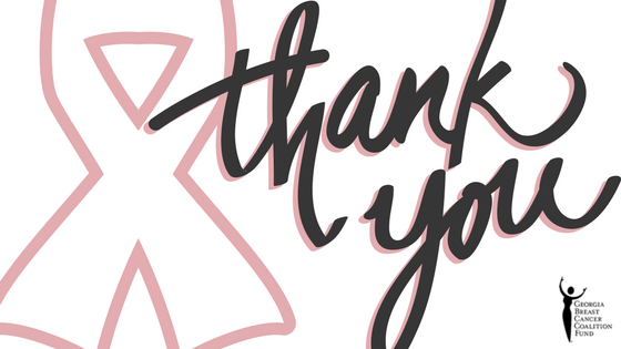 A Special Thank You! | Georgia Breast Cancer Coalition Fund