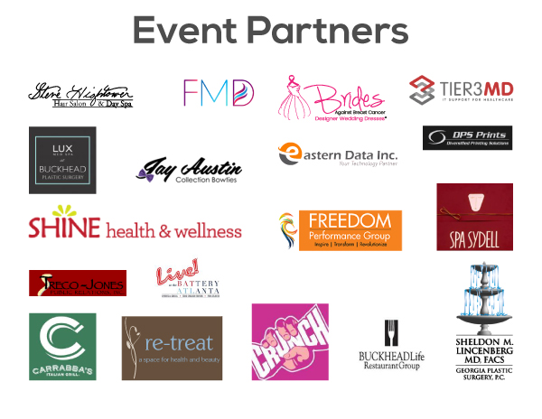 The wedding dress experience event partners